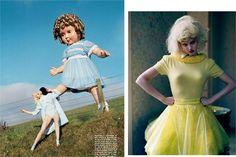 Vogue Italia - Like A Doll    Tim Walker - Photographer  Jacob K - Fashion Editor/Stylist  Shon - Hair Stylist  Samantha Bryant - Makeup Artist  Andy Hillman - Set Designer