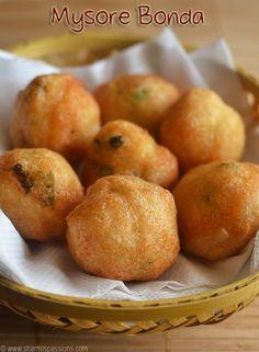 Mysore Bonda Recipe Baby Food Recipes, Indian Food Recipes, Snack Recipes, Cooking Recipes, Healthy Recipes, Food Lab, Food Food, Bread Roll Recipe Indian, Mango Jelly