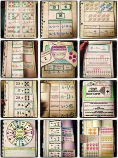 This set of Interactive Notebook Activities will keep your first grade students engaged and excited about math this year! This set focuses on addition and subtraction concepts. Math Classroom, Kindergarten Math, Teaching Math, Classroom Ideas, Interactive Math Journals, Math Notebooks, Math Strategies, Math Resources, Math Activities