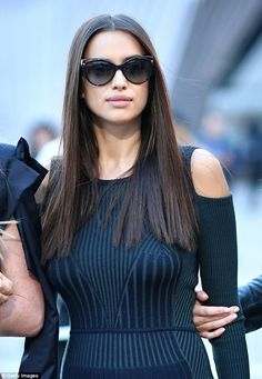 Stunning on and off the catwalk: Irina managed to look sensational despite being off-duty...