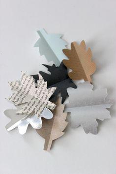 Efterårs pynt - til bordet eller ranker (incl template)