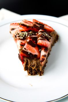 Triple-Chocolate and Strawberry Cheesecake (vegan, gf)