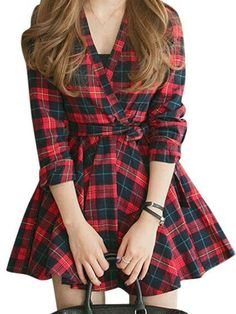 Mad About Plaid Shirt Dress - thechicfind.com