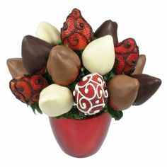 Bouquet di fragole al cioccolato