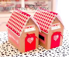 Puppy Love Valentine Mailbox - great DIY and so adorable! Free printable!  #crafts #idea #kids