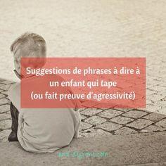 Suggestions de phrases à dire à un enfant