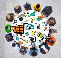 Diversity People Online Marketing Digital Communication Meeting - Stock Photo - Images