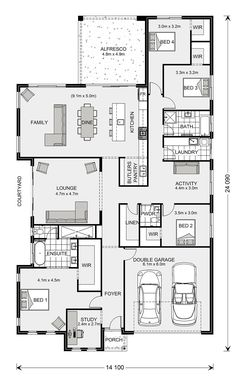 Long Bay Display Homes in Sunshine Coast South Dream House Plans, House Floor Plans, My Dream Home, Plans Architecture, Activity Room, House Blueprints, Display Homes, Open Plan Living, House Layouts