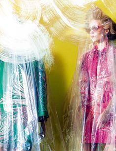 """Mannequin Thriller,"" featuring Kinga Rajzak, photographed by Miles Aldridge for Vogue Italia (March 2013)."