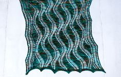 """""""Aran Waves""""  <  Drop Stitches & Very Easy Lace  -  by Kieran Storey  /  KL  (SW:  A good first lace project)"""