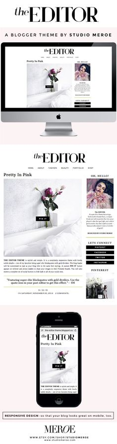 The Editor Blogger Theme - Designed and developed by STUDIO MEROE View the LIVE preview: http://the-editor-theme.blogspot.com/