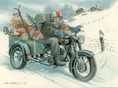 Christmas Clipart, Christmas Elf, Xmas, Vintage Cards, Vintage Postcards, Fantasy Dwarf, Norwegian Christmas, Baumgarten, Elves And Fairies