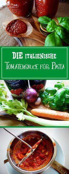 DIE italienische Tomatensauce zu Pasta - einfach Italien nach Hause holen & deine Familie mit diesem Rezept verglücklichen! Zudem glutenfrei & vegetarisch.  | cucina-con-amore.de