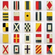 Best Made Co. Wooden Nautical Flags http://www.bestmadeco.com/collections/frontpage/products/wooden-nautical-flags