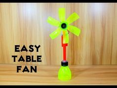 How to Make an Electric Table Fan using Bottle - Very Easy - YouTube
