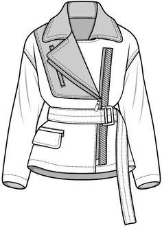 CAD jacket... Ylime xxx Dress Design Sketches, Fashion Design Sketchbook, Fashion Design Portfolio, Fashion Design Drawings, Illustration Mode, Fashion Illustration Sketches, Fashion Sketches, Design Illustrations, Fashion Design Template