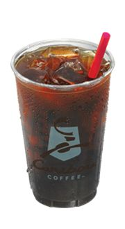 Cold Press Iced Coffee @ Caribou Coffee-5 cals, 0g carbs.