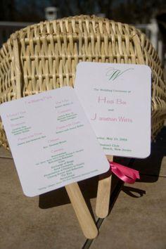 Paddle Fan Wedding Program on Etsy