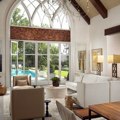 Large arched window