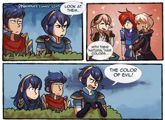 Fire Emblem comic (Marth, Ike, Lucina, Kamui, Robin, Roy)