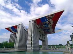 Olympic Park Gate, Seoul, South Korea.