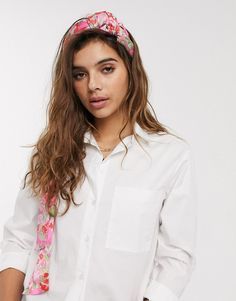 Buy ASOS DESIGN bright floral print twist front headscarf in pink at ASOS. With free delivery and return options (Ts&Cs apply), online shopping has never been so easy. Get the latest trends with ASOS now. Asos, Baker Boy Cap, Denim Hat, Checked Scarf, Leather Hats, White Headband, Knitted Headband, Cashmere Scarf