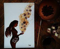 Simple magic to be a Woman... Всем беремчатым девочкам посвящается! особенно одной из них =)) 😉  кооофе☕☕, бумага акварельная, 18.5*27.5 см
