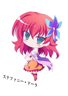 Anime picture with no game no life stephanie dora feijitian long hair single tall image blush looking at viewer smile simple background white bare shoulders red hair inscription standing aqua eyes hair flower chibi girl dress