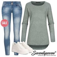 Outfit 13728 - 77onlineshop Brave, Urban Surface, Madonna Mode, Outfits Damen, Streetwear Shop, Young Fashion, Pullover, Skinny, Street Wear