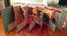 Scrappin' with Shalana: Hopscotch Mini Album Fun..Picture tutorial of this fun mini album