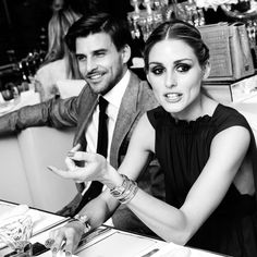 "OP & JH ""Candid shot inside Olivia Palermo's magical dinner party in Paris. Photo by Joe Schildhorn/@bfa/Rex Shutterstock"