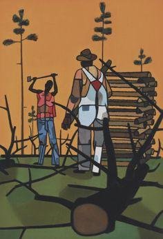 The Woodcutter by Robert Gwathmey