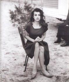 Model and actress Milla Jovovick, 14 years old at the time. Vogue Paris, May 1990.