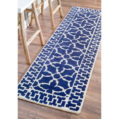 nuLOOM Handmade New Zealand Wool Marrakesh Moroccan Trellis Runner (2'6 x 8') - Overstock™ Shopping - Great Deals on Nuloom Runner Rugs