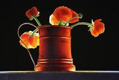 Still Life Watercolor Paintings By ¨Ottorino de Lucchi¨ 1951 artista italiano.