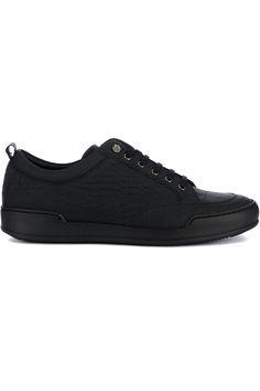 Gave Philipp Plein Sneaker Reptile (zwart) Heren sneakers van het merk philipp plein . Uitgevoerd in zwart.