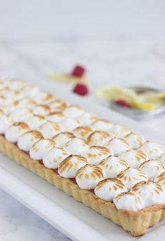 Raspberry Lemon Meringue Tart @FoodBlogs