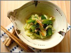 青梗菜のピリ辛ポン酢和え|レシピブログ