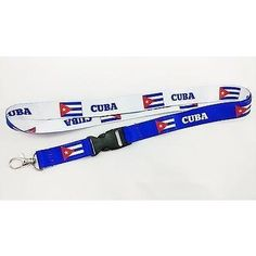 Cuba Flag reversible lanyard/keychain