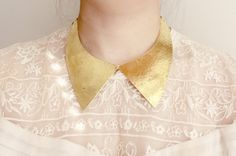Collar Hammered Brass Choker