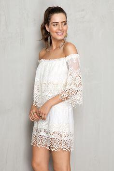 vestido rendado ciganinha | Dress to