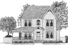Victorian Exterior - Front Elevation Plan #1014-10 - Houseplans.com