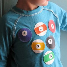 Daddy might be jealous of little one's shirt if I make him this...LOL!
