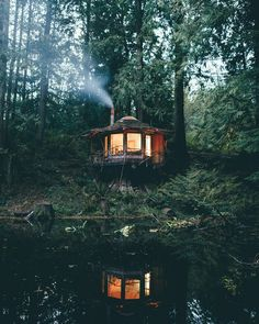 """""""The Stump House"""" by Dylan Furst at the North Cascades of Washington Follow @travelgurus for the best Tumblr landscapes"""