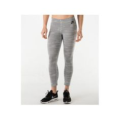 Nike Women's Leg-A-See Allover Print Crop Training Leggings ($30) ❤ liked on Polyvore featuring activewear, activewear pants, grey, nike sportswear, nike, nike activewear, athletic sportswear and nike activewear pants