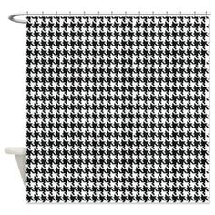 Houndstooth Shower Curtain on CafePress.com