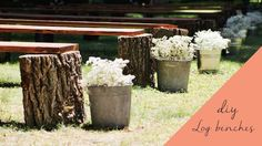 DIY Rustic Wedding Benches - Here's the perfect budget-saving solution for seating at an outdoor wedding.