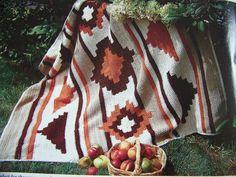 Southwestern Indian Blanket Afghan Pattern Native Amer...