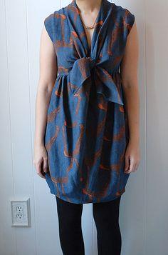 Mociun tie-front inspired dress