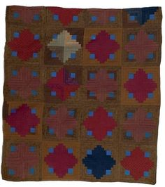 Cowan's Auctions: The Midwest's Most Trusted Auction House / Antiques / Fine Art / Art Appraisals Amische Quilts, Log Cabin Quilts, Antique Quilts, Vintage Quilts, Nancy Zieman, Couettes Amish, Quilting Projects, Quilting Designs, Tim Holtz